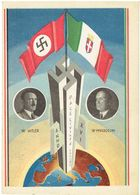 Militaria Propaganda Karte 3.Reich Hitler- Mussolini  ( Rencontre Du Duce Et Du Führer ) Du 4 Maggio 1938 - Weltkrieg 1939-45