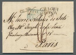 Italien - Altitalienische Staaten: Sardinien: 1807 Ff. - 14 Vorphilatelistische Briefe Aus Genua, Al - Sardaigne