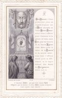 IMAGE PIEUSE Religieuse Vers 1880 De Letaille - Brodée Religion Catholique Catholicisme - NOEL Attelage Saint - Devotieprenten