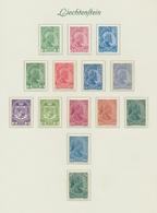 """Liechtenstein: 1912-65, Sehr Saubere Sammlung Auf """"Borek""""-Vordrucktext, Bis 1945 Komplett Ohne Block - Collections"""