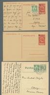 Liechtenstein: 1928-1943, Kleine Partie Von Elf Belegen, Darunter Drei Ganzsachenkarten, P 6 Mit Zus - Collections