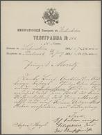 Russland: 1851-1916, Eine So Wohl Kaum Wieder Zusammenzutragende Sammlung Aus 67 Telegrammen Und Tel - 1857-1916 Empire