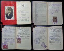 Yugoslavia C1926 Slovenia Croatia Vintage Expired Passport Revenue Stamps Canada Germany BP7 - Documenti Storici