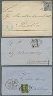 Mexiko: 1869-1871, Partie Von 5 Briefen Mit Geschnittenen Hidalgo-Ausgaben Welche Alle Bezirksnamena - Messico