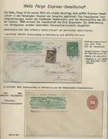 """Mexiko - Ganzsachen: 1886-1895, Sammlung Von 9 Gebrauchten Und Ungebrauchten """"Wells Fargo""""-Ganzsache - Messico"""