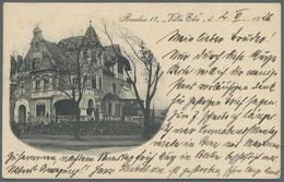 Ansichtskarten: 1899-1960, Bestand Von Etwa 170 Ansichtskarten Mit U.a. Diversen Ortsansichten Aus D - 500 Karten Min.