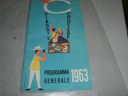 PROGRAMMA GENERALE CROCIERA 1963 - Barche