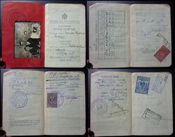 Yugoslavia C1927 Slovenia Croatia Vintage Expired Passport Revenue Stamps Canada Germany Serbia BP8 - Documenti Storici