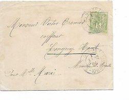 SH 0585. N° 50 ESCH-SUR-ALZETTE 31.12.96 S/Lettre PORT FRONTALIER V. LONGWY-Haut (France). Dos 31 DEC. - 1882 Allegorie