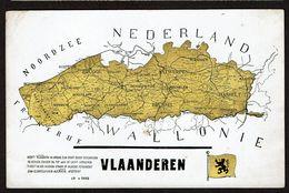 Carte Géographique - Vlaanderen - Uitg. Voor Vlaanderen - Deurne - 2 Scans - Maps