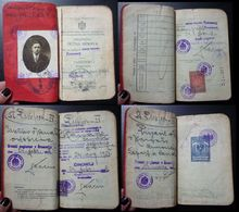 Yugoslavia C1928 Slovenia Croatia Vintage Expired Passport Revenue Stamps Canada Germany BP9 - Documenti Storici