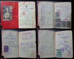 Yugoslavia C1927 Slovenia Croatia Vintage Expired Passport Revenue Stamps Canada Germany Austria Switzerland Serbia BP10 - Documenti Storici