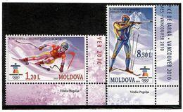 Moldova 2010 .WO Games Vancouver 2010.  2v: 1.20, 8.50 . Michel # 689-690 - Moldavia