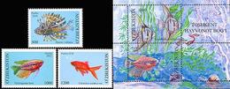 Uzbekistan 2010. Aquarian Small Fishes.  MNH - Uzbekistán