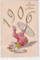 1906 - Clown - Goldprägedruck - 1905       (A-254-200504) - Nouvel An