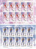 Moldova 2010 . WOG Vancouver 2010. 2 Sheetlets, Each Of 10. Michel # 689-690 KB - Moldavia