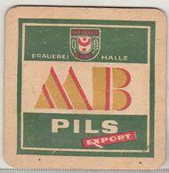 Brauerei Halle Beer Coaster - MB Pils Export Coaster - Sous-bocks