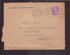 """France, Enveloppe à En-tête """" Le Préfet De Seine-et-Oise """" Du 30 Novembre 1948 De Versailles Pour Clamart - France"""