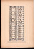 Fiche Serrurerie Ferronnerie Architecture Les Métaux Ouvrés Vers 1880 Porte M. VILFORT à St Quentin (02) Aisne - Schede Didattiche