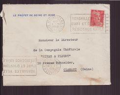 """France, Enveloppe à En-tête """" Le Préfet De Seine-et-Oise """" Du 3 Septembre 1948 De Versailles Pour Clamart - France"""
