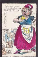 CPA La Flèche Satirique Caricature Non Circulé Marianne Retraite Tirage Limité - Satirische