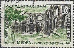 ALGERIA 1962 Medea - 1f - Sepia And Green FU - Algérie (1962-...)