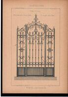 Fiche Serrurerie Ferronnerie Architecture Les Métaux Ouvrés Vers 1880 Porte D'ascenseur M. CARRIER Neuilly (92) - Schede Didattiche