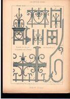 Fiche Serrurerie Ferronnerie Architecture Les Métaux Ouvrés Vers 1880 Porte (détails) Péronne (80) Somme - Schede Didattiche
