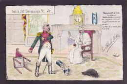 CPA La Flèche Satirique Caricature Non Circulé Combes Le Pape Napoléon Anticléricale Tirage Limité - Satirische