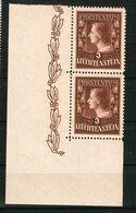 D3 -  Yvert Et Tellier No 267 N** - Paire Coin De Feuille TTB - Liechtenstein