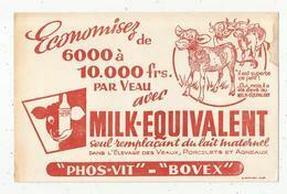 Buvard , Milk-equivalent , PHOS-VIT  -  BOVEX ,frais Fr 1.45 E - Carte Assorbenti
