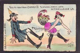 CPA Orens Satirique Caricature Non Circulé L'actualiste Kaiser Marianne Tirage Limité - Satirische