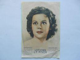 AFFICHE - LOTION L.T. PIVER  (24 X 35 Cm) - Manifesti