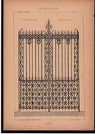 Fiche Serrurerie Ferronnerie Architecture Les Métaux Ouvrés Vers 1880 Porte M. OURADOU Architecte Paris - Schede Didattiche