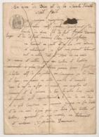 1861 TESTAMENT CULTIVATEUR ARLES BOUCHES DU RHONE / RUE DU REFUGE / DAUMAR PANSSIN   C934 - Manoscritti