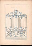 Fiche Serrurerie Ferronnerie Architecture Les Métaux Ouvrés Vers 1880 Porte Bd Montparnasse Paris - Schede Didattiche