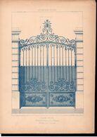 Fiche Serrurerie Ferronnerie Architecture Les Métaux Ouvrés Vers 1880 Porte D'Hôtel St Quentin (02) Aisne - Schede Didattiche