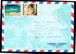 POLYNESIE Ile De TAHITI Enveloppe Cover Centre De Tri Avion FAAA 10 03 1984 - Polinesia Francese