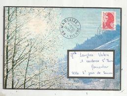 Lettre , 86 - MARTAIZE ,VIENNE ,1985 , 2 Scans - Marcofilie (Brieven)
