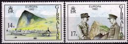 Gibraltar - Europa CEPT 1982 - Yvert Nr. 458/459 - Michel Nr. 451/452  ** - Europa-CEPT