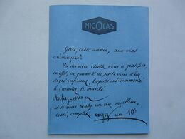 VIEUX PAPIERS - PUBLICITE : NICOLAS - Colecciones