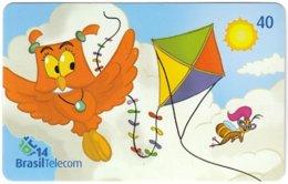 BRASIL M-845 Magnetic BrasilTelecom - Cartoon, Animal, Bird, Owl - Used - Brésil