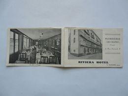 VIEUX PAPIERS - PUBLICITE : PLOMBIERES LES BAINS - RIVIERA HOTEL - Colecciones