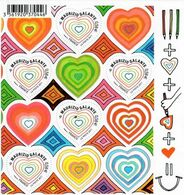 France 2011, Maurizio Galante - Heart Shaped Stamps, MNH Sheetlet - Unused Stamps