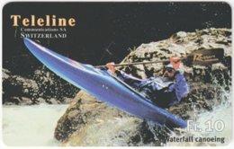 SWITZERLAND C-837 Prepaid Teleline - Leisure, Canoeeing - Used - Svizzera
