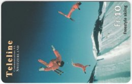 SWITZERLAND C-838 Prepaid Teleline - Leisure, Freestyle-skiing - Used - Svizzera