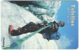 SWITZERLAND C-840 Prepaid Teleline - Leisure, Mountain Climbing - Used - Svizzera