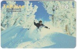 SWITZERLAND C-844 Prepaid Teleline - Leisure, Freestyle-skiing - Used - Svizzera