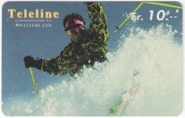 SWITZERLAND C-845 Prepaid Teleline - Leisure, Freestyle-skiing - Used - Svizzera