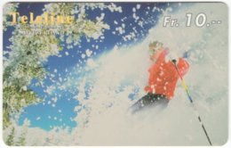 SWITZERLAND C-846 Prepaid Teleline - Leisure, Freestyle-skiing - Used - Svizzera